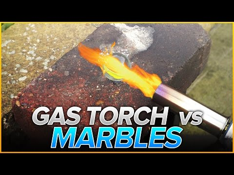 Gas Torch vs Marbles | Will It Melt?