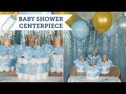 Diaper Cake Centerpieces for a Baby Shower   BalsaCircle.com