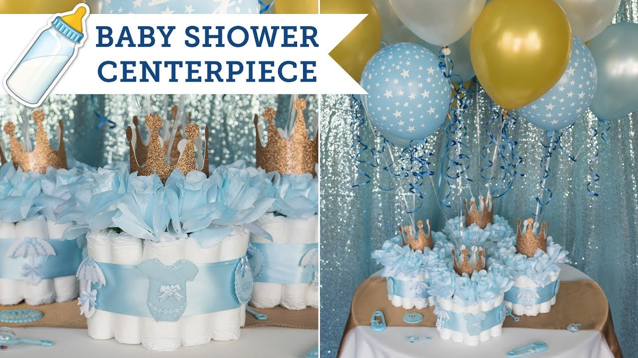 Diaper Cake Centerpieces For A Baby Shower Balsacircle Youtube