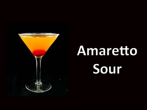 Amaretto Sour Cocktail Mixed Drink Recipe