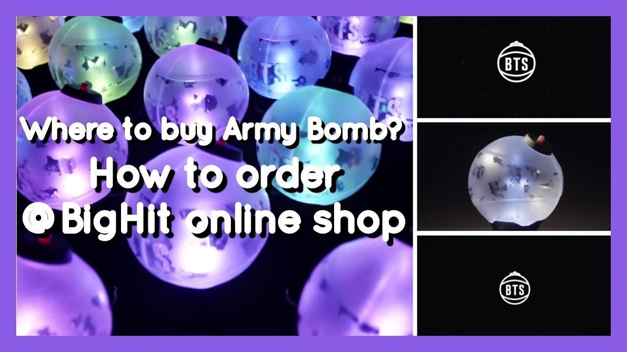 How To Buy From Bighit Official Shop Army Bomb Bts Merch Youtube