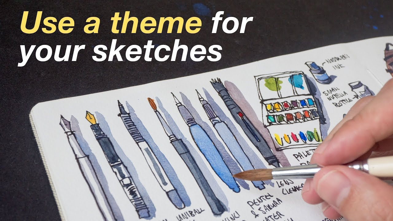 Use a theme for your sketches