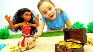 Видео для детей: #МОАНА И СОКРОВИЩА ПИРАТОВ! Игрушки из мультика Куклы #ПриключенияДляДетей