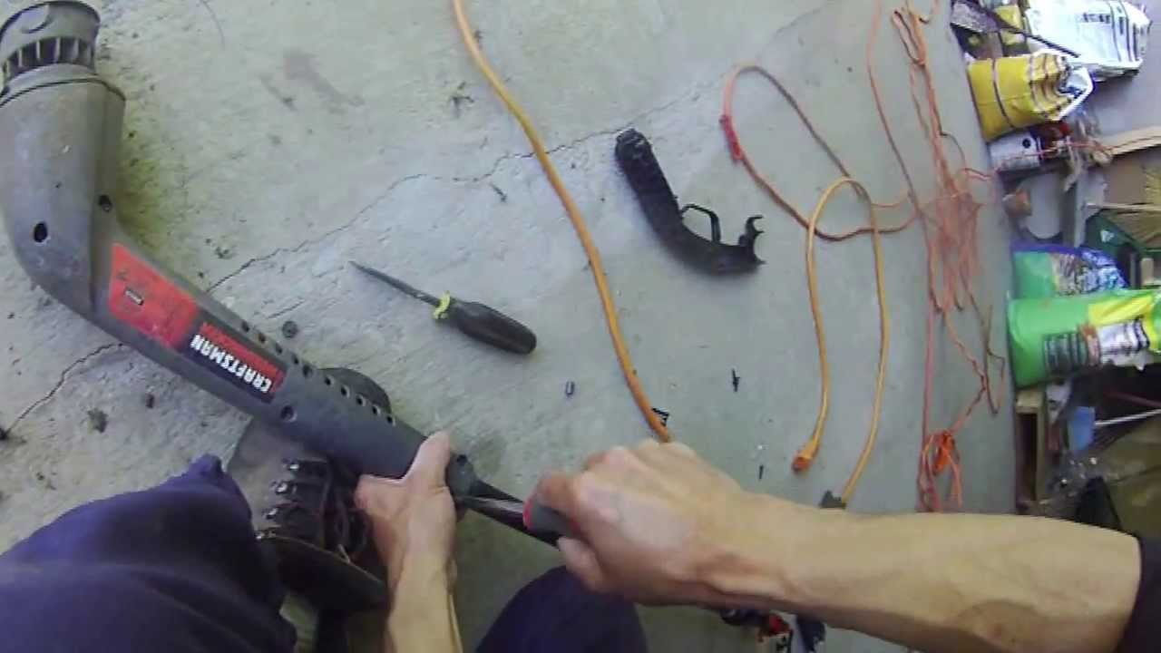 how to repair electric weed trimmer  craftsman 15 inches 46 amps  diy  YouTube