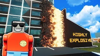 Huge Flame Wall Destroys Lego Tower! - Brick Rigs Gameplay - Lego Tower Survival