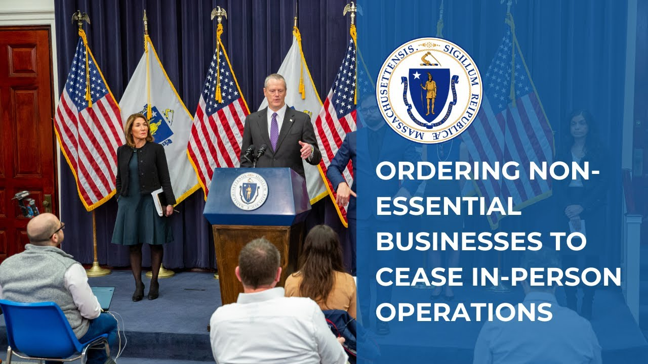 Baker Orders All Non-Essential Mass. Businesses To Close Starting ...