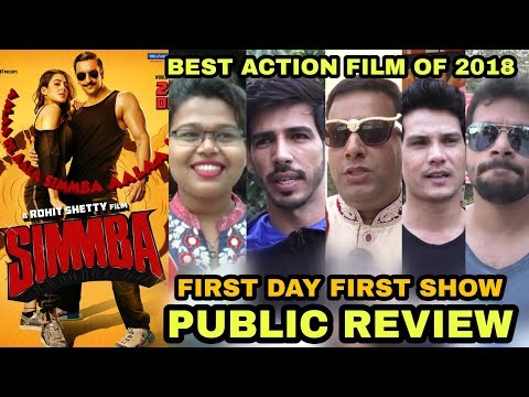 Simmba Movie PUBLIC Review | First Day First Show | Best Action Film Of 2018 | Ranveer Singh