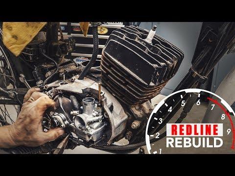Two-stroke engine rebuild time-lapse - 1978 Kawasaki KE100 motorcycle | Redline Rebuild S2E2