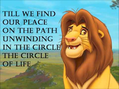 The Lion King - Circle of life (with lyrics)