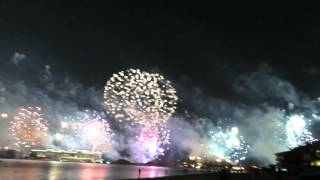 Dubai's Record Breaking Fireworks Seen from Frond C-Palm Jumeirah