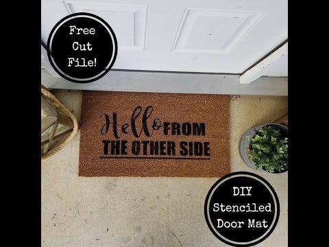 How to Stencil A Door Mat