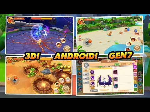 NEW POKEMON 3D GAME FOR ANDROID WITH GENERATION 7 AND NEW BATTLE STYLE! - 2018! - 동영상