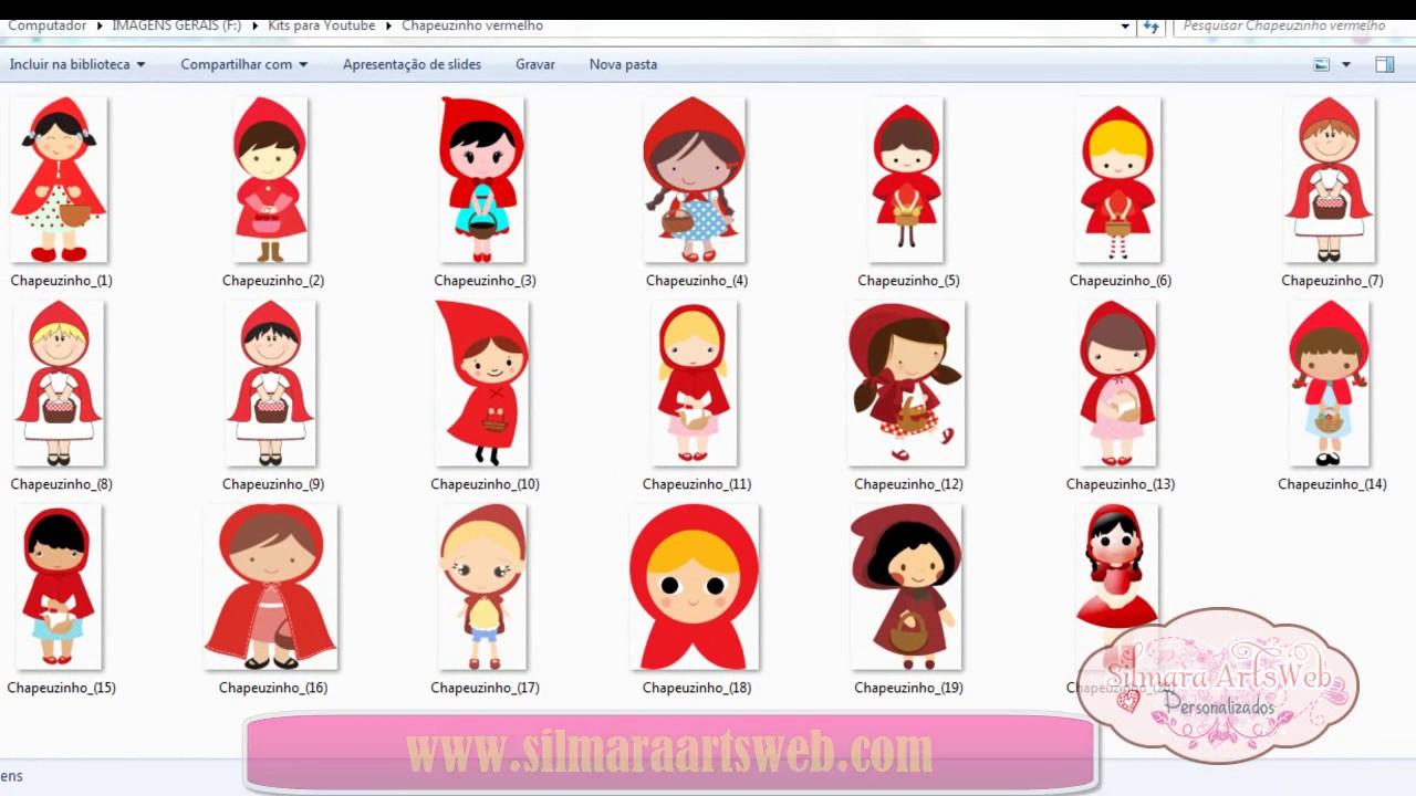 Kit 20 Imagens Chapeuzinho Vermelho Em PNG Alta Resolução