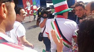 The Iran Fans & Mexican Reporter In Kazan