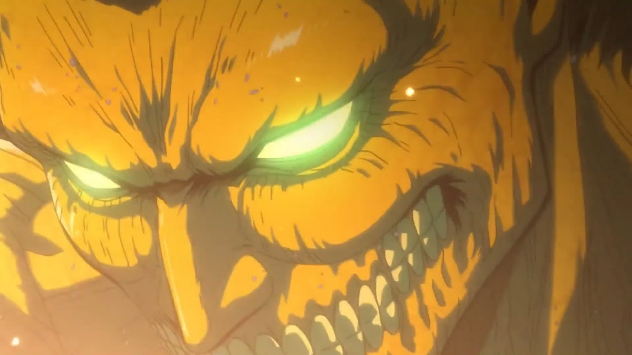 eren titan form transformation Eren epic transformation -Shingeki no Kyojin Season 1 Part 1 episode 1  「進撃の巨人 Season 1 Part.1」