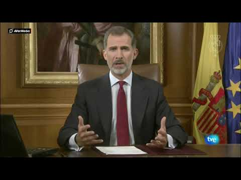 Rey de España califica de 'ilegal' referéndum en Catalunya Parte 1