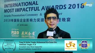 MIA2018 Winner Interview - Yang Di Mulia Tengku Muhammad Kin Eezaz bin Abdullah Tengku A B