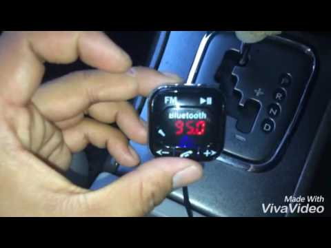 How to setup car kit wireless Bluetooth FM Transmitter MP3