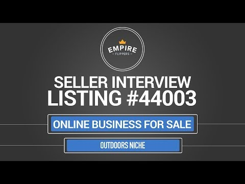 Online Business For Sale – $10.4K/month in the Outdoors Niche