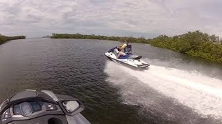 Yamaha FX SHO Cruiser versus Kawasaki STX 15F - top speed running head to head