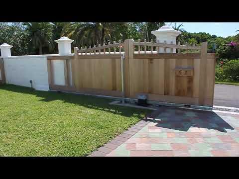 Wooden Sliding Gate Youtube