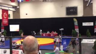 Canada Summer Games wrestling 54kg final