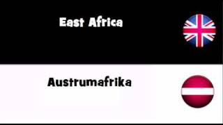 TRANSLATE IN 20 LANGUAGES = East Africa
