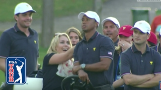 "Tiger Woods and ""Sammy"" the squirrel"