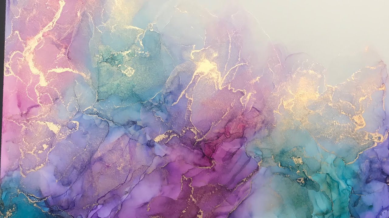 [20] Abstract Alcohol Ink Art Tutorial