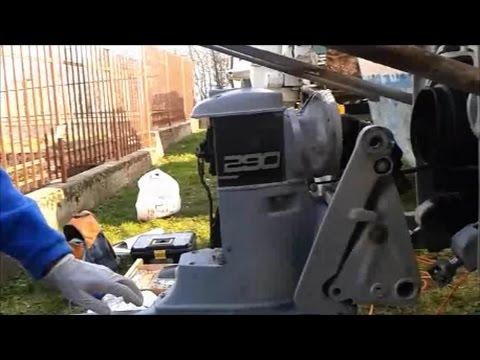 Volvo Penta 290A stern drive removal - YouTube