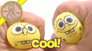 Spongebob Stretchy Yoyo's And Screen Cleaner Puffy Sticker - Vending Machine Toys