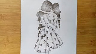Mothers Day Drawing of pencil sketch step by step