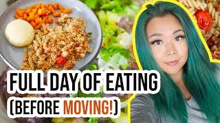 WHAT I ATE IN A DAY (VEGAN) | Random Meals | Lazy Cooking | Kitchen Clean Out