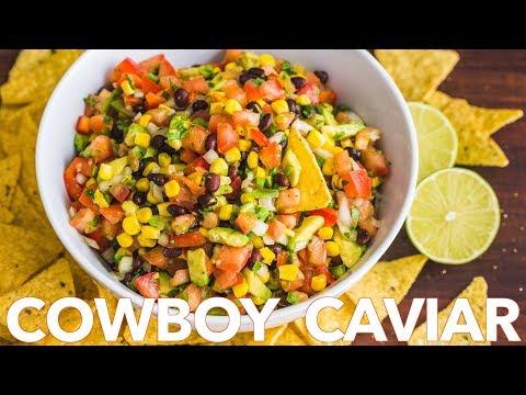 Homemade Cowboy Caviar Salsa Recipe | Texas Caviar Party Dip