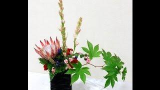 初心者でも良くわかる、キングプロティアを入れたフラワーアレンジメントの作り方~How to make flower arrangement with  King Protea