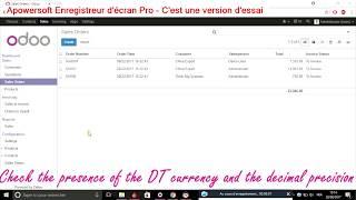 [Tutoriel] vérifier la devise et la précision décimal