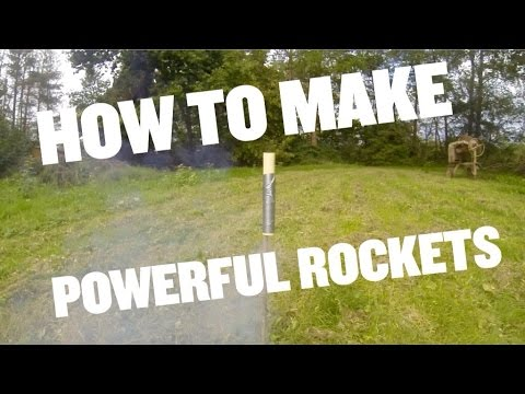 how to make a powerful KNO3 & sugar rocket motor