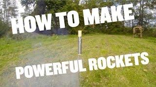 how to make a powerful KNO3 & sugar rocket motor