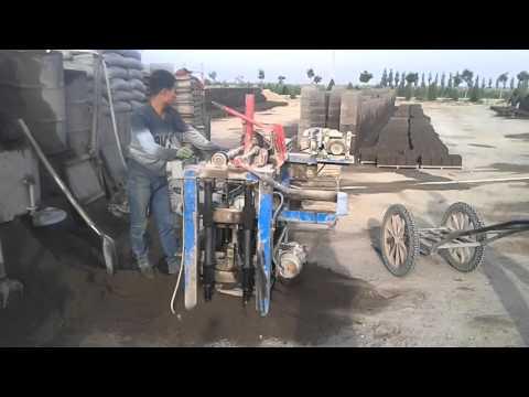 Вот!Бетон, как стать деньгами! (мини бетонный кирпич станок) HENGYI-MACHINE