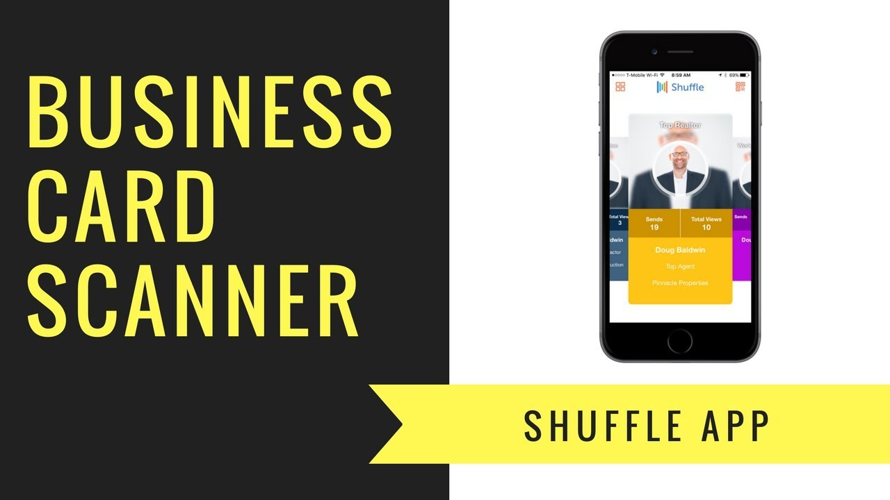 Business Card Scanner - Shuffle App - YouTube