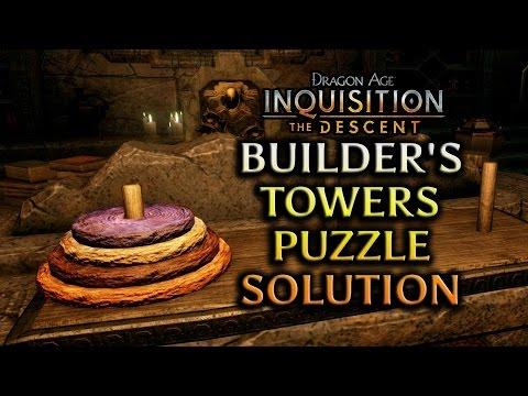 Dragon Age: Inquisition - The Descent DLC - Builder's Towers Puzzle Solution
