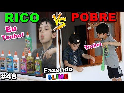 RICO VS POBRE FAZENDO AMOEBA / SLIME #48