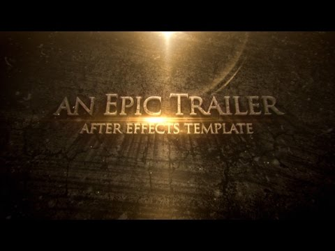 blockbuster cinematic trailer titles after effects. Black Bedroom Furniture Sets. Home Design Ideas