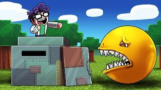 Minecaft   KILLER PACMAN ATTACKS MILITARY BASE! (Secure Base vs Pacman.EXE)