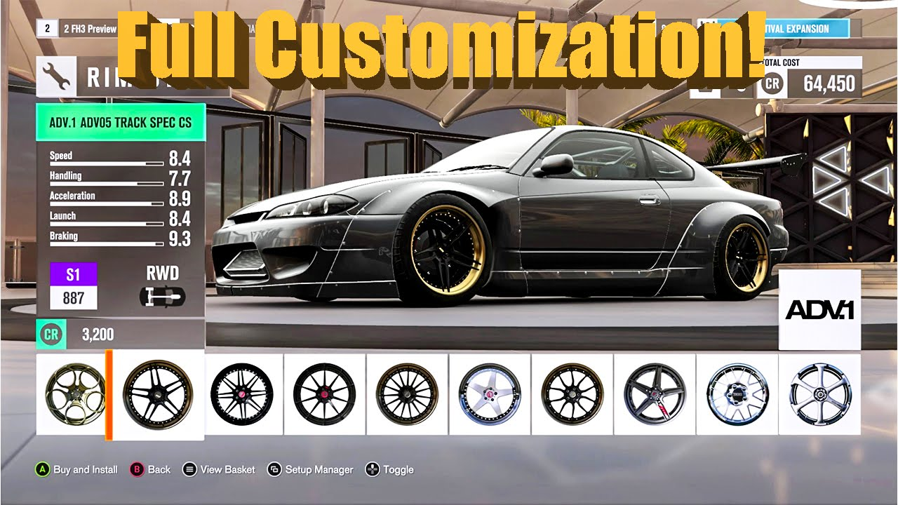 forza horizon 3 exclusive customization rocket bunny s15 quad rotor drift build youtube. Black Bedroom Furniture Sets. Home Design Ideas