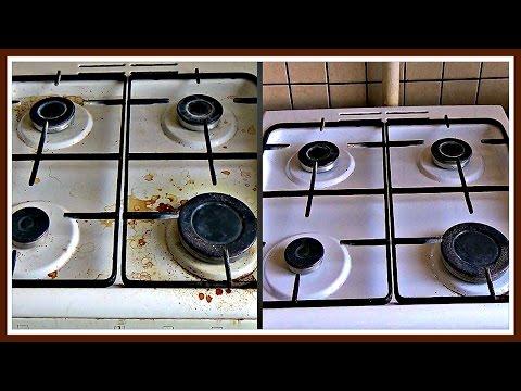 Как БЫСТРО очистить плиту. Как ОТМЫТЬ РУЧКИ плиты.