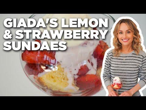 Giada De Laurentiis' Lemon and Strawberry Sundaes   Giada at Home   Food Network