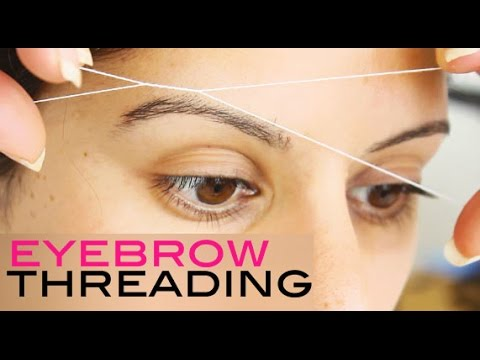 how to hold thread for eyebrow threading