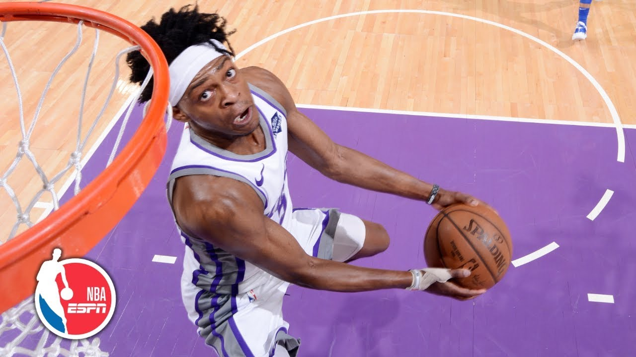 De'Aaron Fox throws down two high-flying dunks in win   Mavericks vs. Kings   NBA Highlights