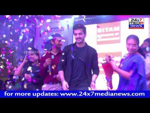 Hero Akhil Akkineni Participate in Gitam University youth fest at Vizag -2018